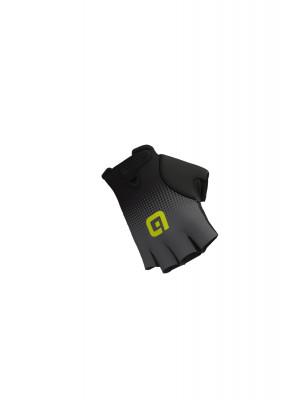 Letné cyklistické rukavice unisex ALÉ DOTS GLOVES čierne/šedé