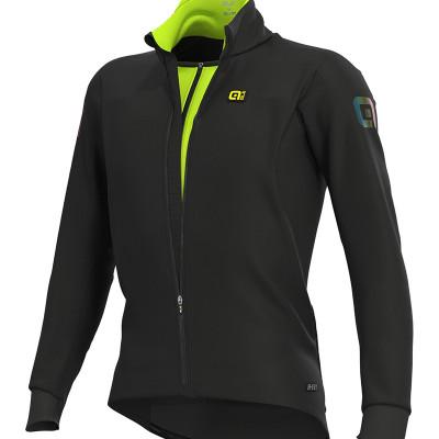 Zimná cyklistická bunda pánska ALÉ R-EV1 CLIMA PROTECTION 2.0 COURSE COMBI JACKET čierna