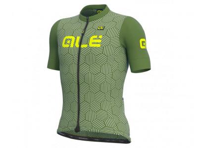 Letný cyklistický dres pánsky Alé SOLID Cross zelený
