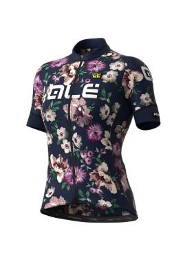 Letný cyklistický dres dámský Alé GRAPHICS PRR Fiori Lady modrý