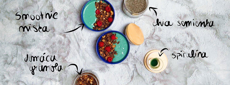 Recept na spirulina smoothie bowl s domácou granolou