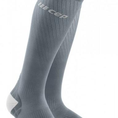 Bežecké kompresné ponožky dámske CEP Ultralight sivé