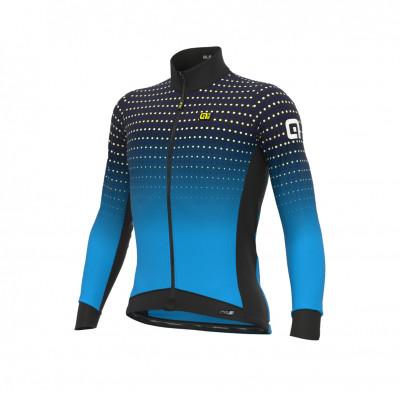Zateplený cyklistický dres pánsky Alé PRS Bullet DWR modrý