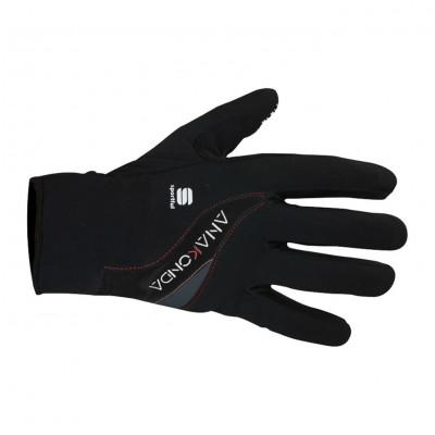 Zimné cyklistické rukavice Sportful Anakonda čierne