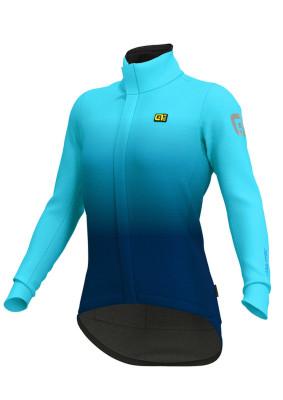 Zimná cyklistická bunda dámska ALÉ GIACCA KLIMATIK K-TORNADO DWR tyrkysová