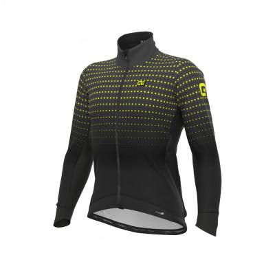 Zimná cyklistická bunda pánska Alé PRS Bullet DWR Stretch čierna
