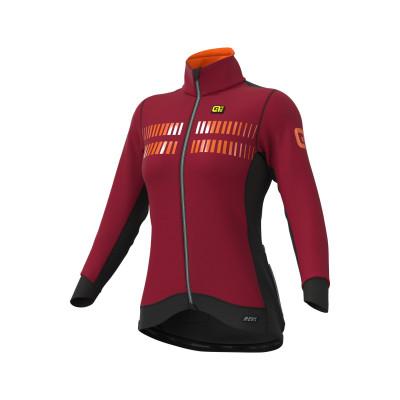Zimná cyklistická bunda dámska Alé R-EV1 Clima Protection 2.0 červená