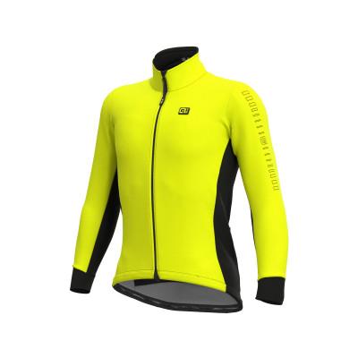 Zimná cyklistická bunda pánska Alé SOLID Fondo žltá