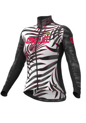 Zimný cyklistický dres ALÉ GRAPHICS PRR SUNSET LADY čierna/biela