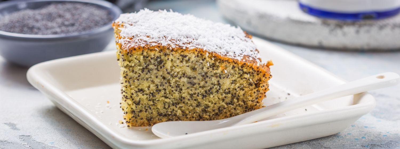 Zdravý a rýchly banánovo-makový koláč