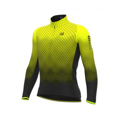 Zateplený cyklistický dres pánsky Alé R-EV1 Clima Protection 2.0 Velocity Wind G+ žltý