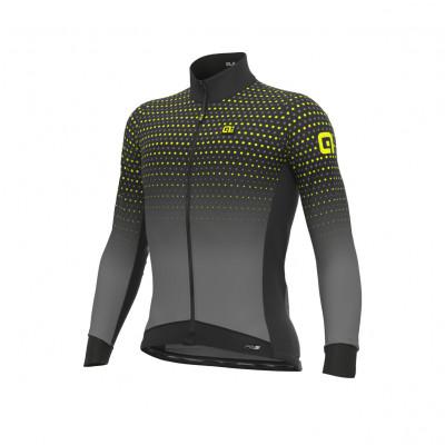 Zateplený cyklistický dres pánsky Alé PRS Bullet DWR šedý
