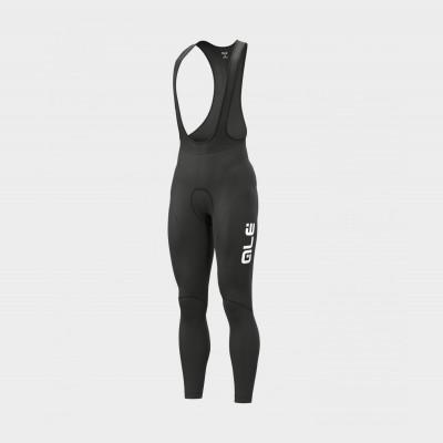 Zimné cyklistické nohavice pánske Alé CALZAMAGLIA C/B Winter čierne