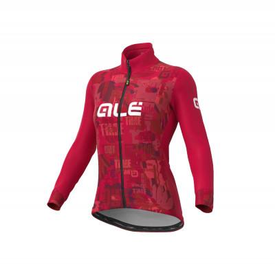 Zimná cyklistická bunda dámska Ale Cycling SOLID Break červená