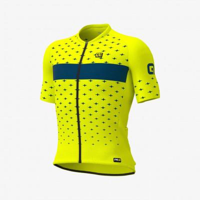 Letný cyklistický dres pánsky ALÉ PRR STARS žltý
