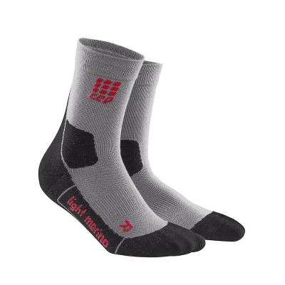 Kompresné ponožky pánske CEP Ultralight Merino šedé
