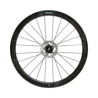 Karbónové kolesá pre cestný bicykel FFWD F4D (45MM), náboje DT350 2:1, farba Celeste, plášť