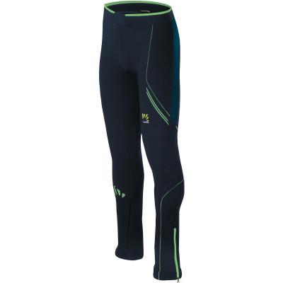 Karpos ALAGNA EVO nohavice tmavomodré/zelené fluo