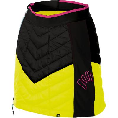 Outdoorová sukňa dámska Karpos ALAGNA PLUS EVO čierna/žltá/ružová fluo