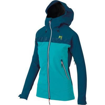 Outdoorová bunda dámska Karpos JORASSES PLUS modrá/tyrkysová