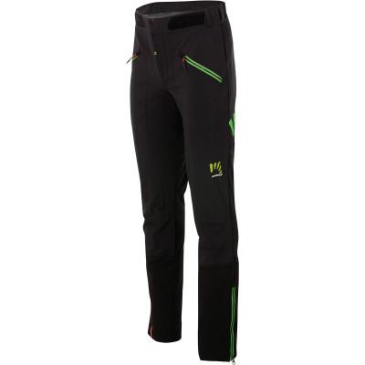 Outdoorové nohavice pánske Karpos K-PERFORMANCE MOUNTAINEER čierne/fluo zelené
