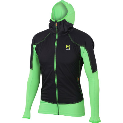 Outdoorová bunda pánska Karpos LAVAREDO zelená/čierna