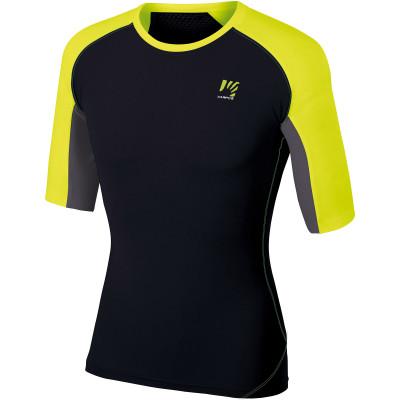 Outdoorové tričko pánske Karpos LAVAREDO čierne/žlté na beh