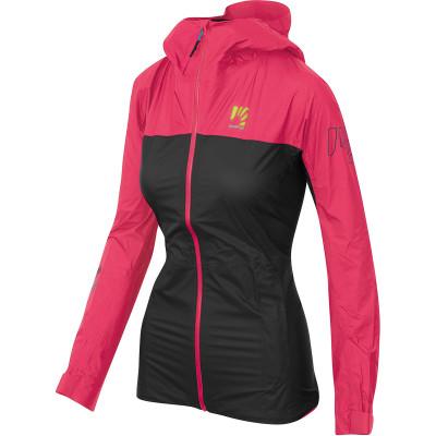 Nepremokavá outdoorová bunda dámska Karpos Lot Rain ružová/čierna