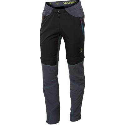 Outdoorové nohavice pánske Karpos ROCK MULTIFORM ZIP-OFF čierne/sivé