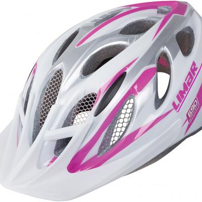 Cyklistická prilba dámska LIMAR MTB 690 biela/ružová
