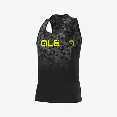 Bežecké tričko pánske ALÉ RUNNING TRIANGLE čierne/sivé