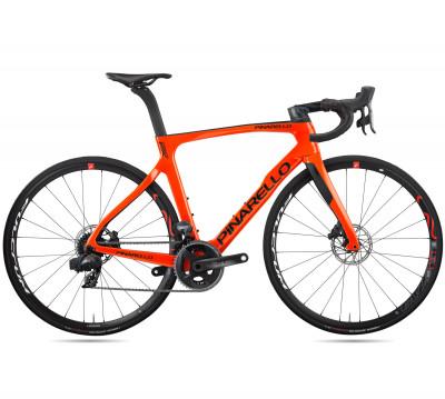 Cestný bicykel Pinarello Prince Fx Disk TiCR Force Axs 2X12 Fulcrum Racing 400 oranžový