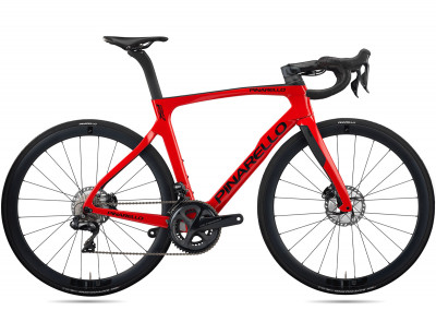 Cestný bicykel Pinarello PRINCE FX disk TiCR Ultegra Fulcrum Wind 400 carbon červený