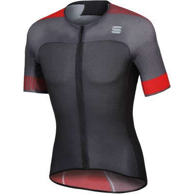 Letný cyklistický dres pánsky Sportful Bodyfit Pro Light čierny/červený