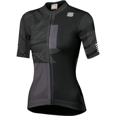 Letný cyklistický dres dámsky Sportful Oasis čierny/antracitový