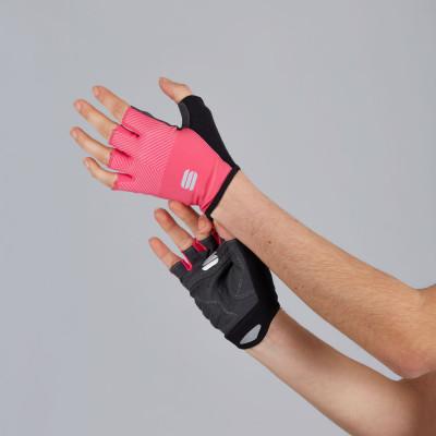 Letné cyklistické rukavice Sportful Race ružové