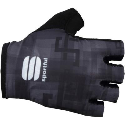 Letné cyklistické rukavice pánske Sportful SAGAN LOGO čierne
