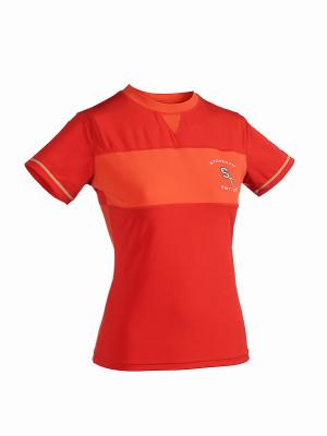 ST running tričko s krátkym rukávom dámske červené