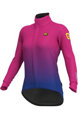 Zimná cyklistická bunda dámska Alé Giacca KLIMATIK K-Tornado DWR ružová/fialová