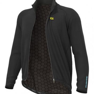 Zimná cyklistická bunda Alé KLIMATIK Guscio G+ DWR čierna