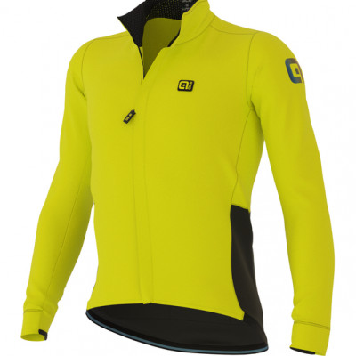 Zimná cyklistická bunda pánska ALÉ KLIMATIK K-STORM JACKET žltá
