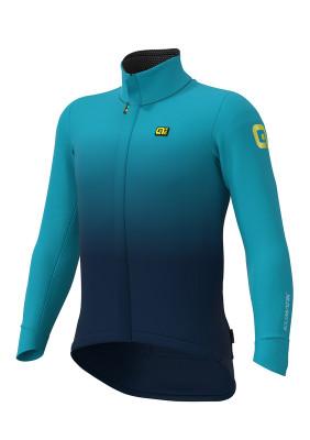 Zimná cyklistická bunda pánska ALÉ KLIMATIK K-TORNADO DWR JACKET modrá
