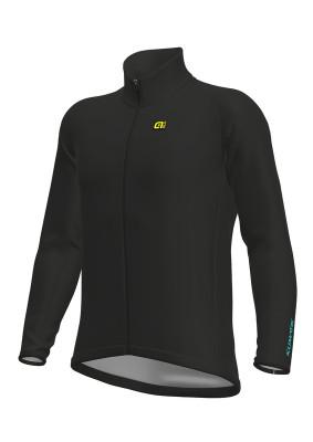 Zimná cyklistická bunda pánska Alé KLIMATIK Guscio Racing čierna