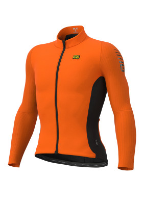 Zimný cyklistický dres pánsky ALÉ R-EV1 CLIMA PROTECTION 2.0 WARM RACE oranžový